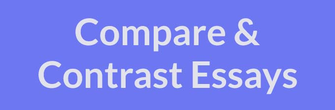 compare and contrast - Compare And Contrast Essays Examples