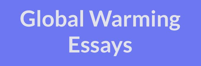 Essay topic global warming